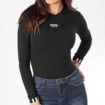 Adidas Originals - Body Tee Shirt Manches Longues Femme ED7455 Noir Blanc