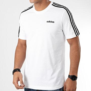 adidas - Tee Shirt A Bandes Essential 3 Stripes DU0441 Blanc