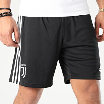 Short De Sport A Bandes Juve H DW5454 Noir
