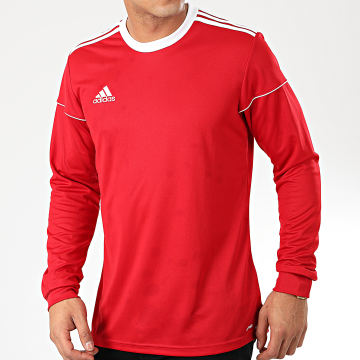 Adidas Performance - Tee Shirt Manches Longues A Bandes Squad 17 BJ9186 Rouge