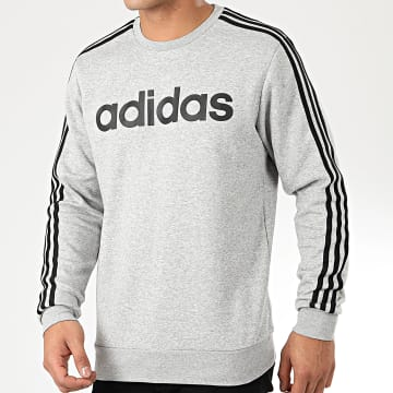 Sweat Crewneck Essential 3 Stripe EI4902 Gris Chiné