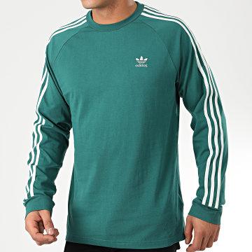 Tee Shirt Manches Longues A Bandes 3 Stripes EK0257 Vert