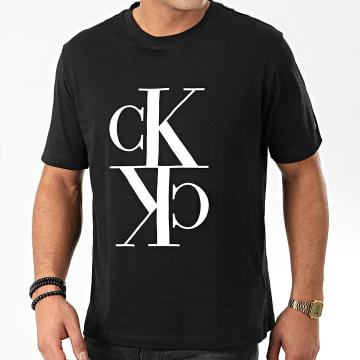 Calvin Klein - Tee Shirt Mirrored Monogram 4106 Noir