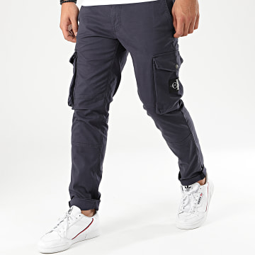 Pantalon Cargo Skinny Washed 4147 Bleu Marine