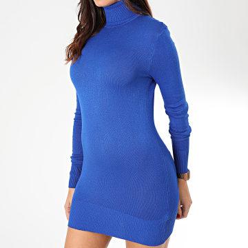 Robe Col Roulé Manches Longues Femme 1305 Bleu Roi