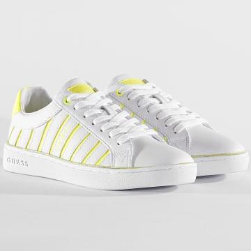 Guess - Baskets Femme FL5BOLELE12 White Yellow
