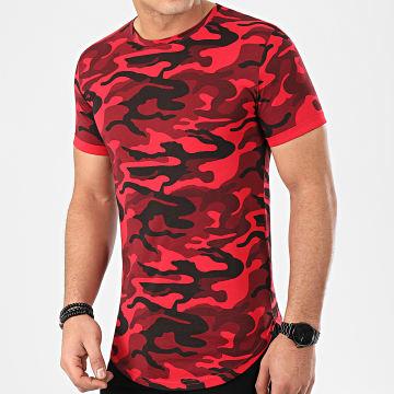 Tee Shirt Oversize Camouflage Avec Revers 940 Rouge
