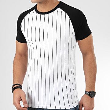 LBO - Tee Shirt Avec Rayures Noires 936 Blanc