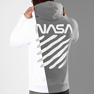NASA - Sweat Capuche Skid Reflective Blanc