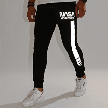 NASA - Pantalon Jogging Worldwide Reflective Noir