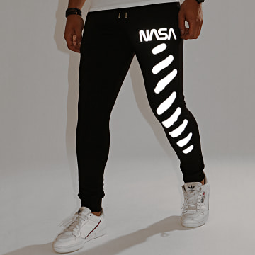 NASA - Pantalon Jogging Skid Reflective Noir