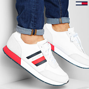 Tommy Hilfiger - Baskets Corporate Mix Flag Runner 2601 White