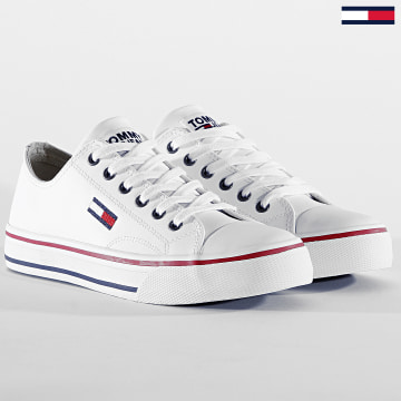Baskets Femme Leather City Sneakers 0746 White