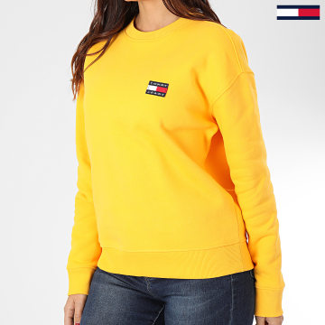 Sweat Crewneck Femme Tommy Badge 7786 Jaune