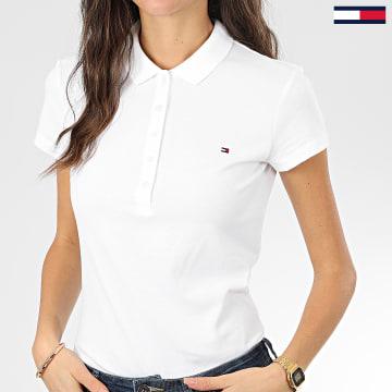 Polo Manches Courtes Slim Femme New Chiara 6661 Blanc