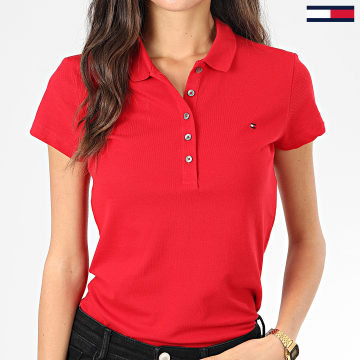 Polo Manches Courtes Slim Femme New Chiara 6661 Rouge