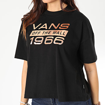 Vans - Tee Shirt Femme Space Cadet A4BDI Noir Doré