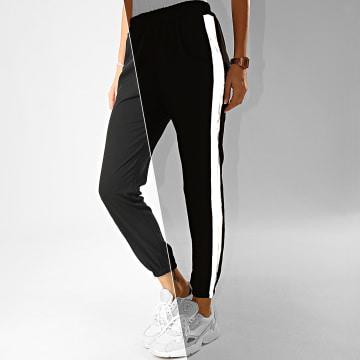 Pantalon Jogging Femme A Bandes 1999 Noir Réfléchissant
