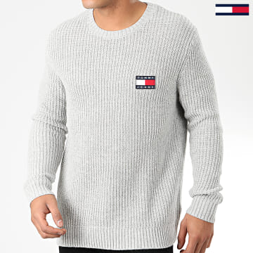 Pull Tommy Badge 7418 Gris Chiné