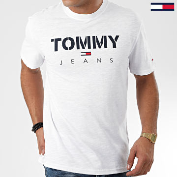 Tommy Jeans - Tee Shirt Tommy Textured 7438 Blanc
