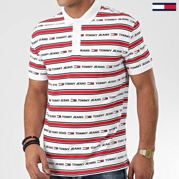 Polo Manches Courtes Branded Stripe 7449 Blanc Rouge