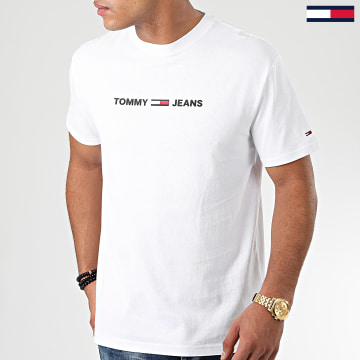 Tommy Jeans - Tee Shirt Straight Small Logo 7621 Blanc