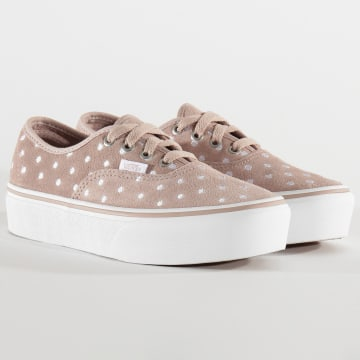 Vans - Baskets Femme Authentic Platform AV8T7U Suede Polka Dot Shadow Grey True White