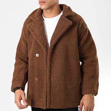 John H - Manteau Fourrure Mouton W002 Marron