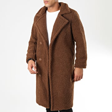 Manteau Fourrure Mouton W010 Marron