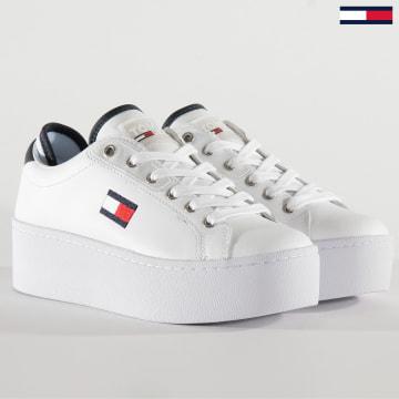 Baskets Femme Platform Tommy Jeans Sneakers 0718 White