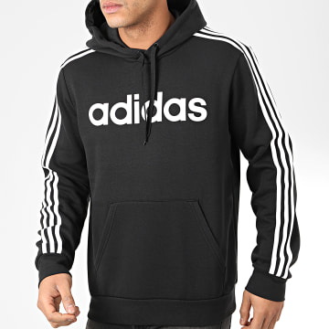Sweat Capuche A Bandes Essential 3 Stripes DQ3096 Noir