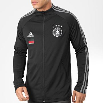 Adidas Performance - Veste De Sport A Bandes DFB Anthem FI1453 Noir