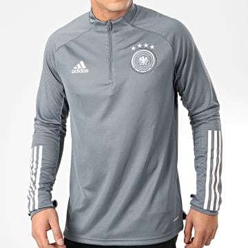 Sweat Col Zippé DFB FS7043 Gris