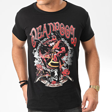 Deadpool - Tee Shirt Deadpool Pirate Bay Noir