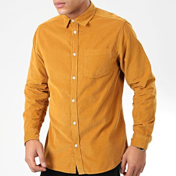 Chemise Manches Longues Velours Muretto Moutarde