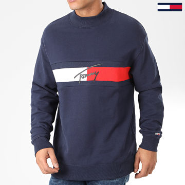 Sweat Crewneck Jacquard Flag 7407 Bleu Marine