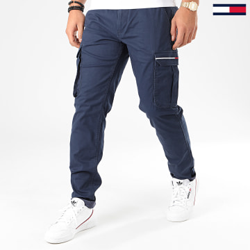 Pantalon Cargo Dobby 7593 Bleu Marine