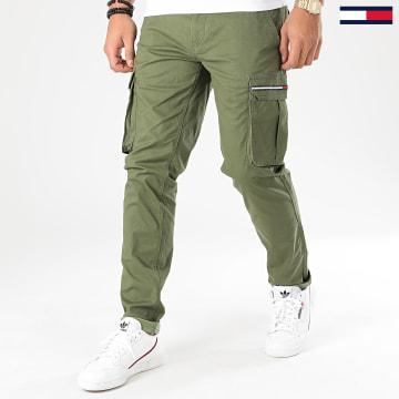 Pantalon Cargo Dobby 7593 Vert Kaki