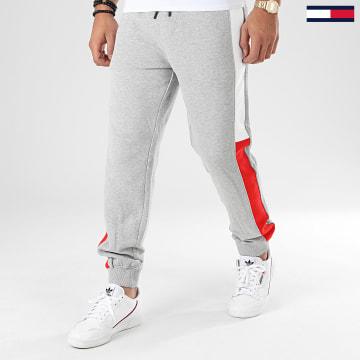 Pantalon Jogging A Bandes Jacquard Flag 7613 Gris Chiné
