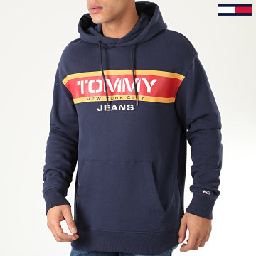 Tommy Jeans - Sweat Capuche Panel Logo 7615 Bleu Marine