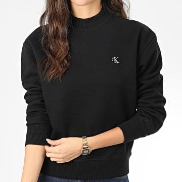 Calvin Klein - Sweat Crewneck Femme CK Embroidery 2875 Noir