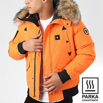 Parka Fourrure Chauffante Chicago Orange
