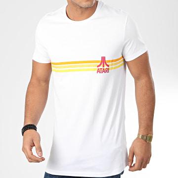 Films et Séries TV - Tee Shirt Oversize Striped Logo Blanc