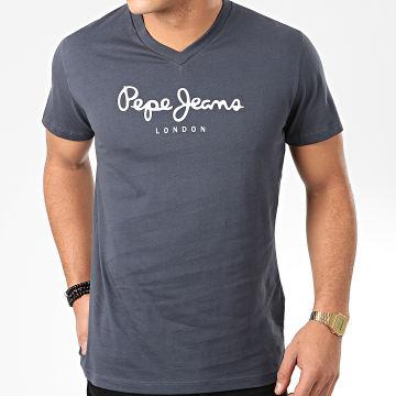 Tee Shirt Col V Eggo V Bleu Marine