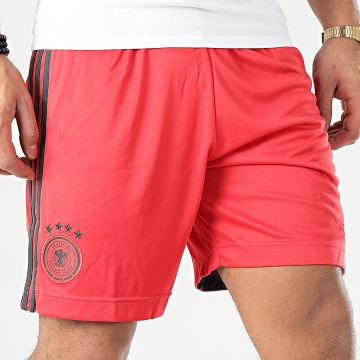 Adidas Performance - Short Jogging A Bandes DFB EH6096 Rouge Noir