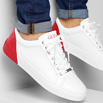 Guess - Baskets FM5LUILEA12 White Red