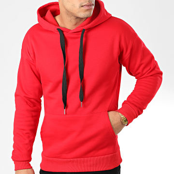 John H - Sweat Capuche 001 Rouge