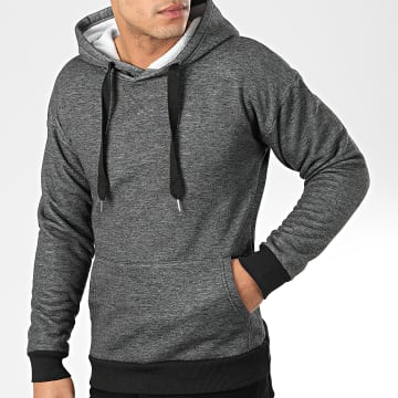 John H - Sweat Capuche WY2019012 Gris Anthracite Chiné
