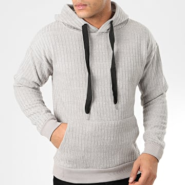 John H - Sweat Capuche WY2019009 Gris Chiné