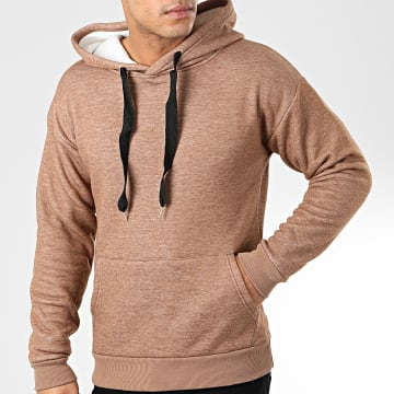 John H - Sweat Capuche 012 Camel Chiné